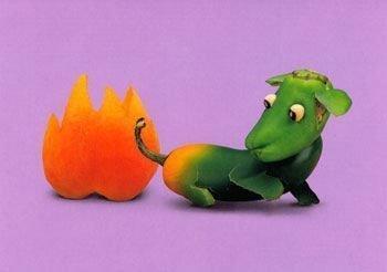 幽默摄影:牛气冲天的水果蔬菜